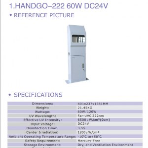 120W Soapless Filtered Far-UVC Industrial Photonic Hand Cleaner Station